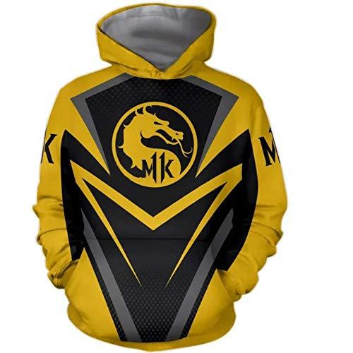 UPSTONE Mortal Kombat 11 Hoodie Long Sleeve Fleece AIR-Zero-Mortal-Kombat- Mens Sweatshirt (M, Yellow) ()