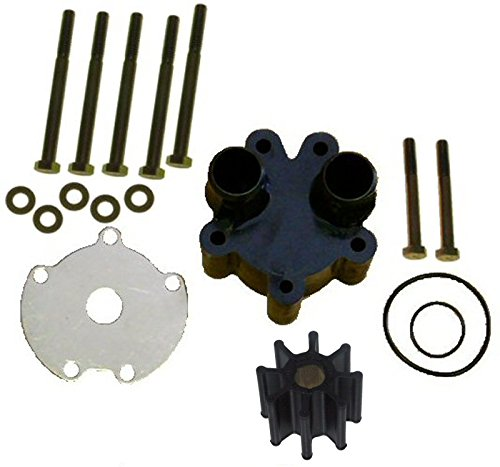 Water Pump Kit with Housing and Bolts for Mercruiser Replaces 46-807151A14 - Belt Driven Pumps