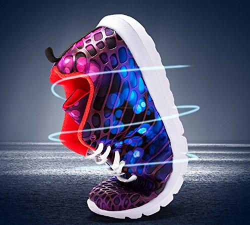 Scarpe da ragazzo indossabili antiscivolo da uomo Scarpe da corsa resistenti alla moda di età scolare Scarpe da corsa resistenti alla scivolosità ( Color : Rosso , Size : US10/EU42/UK8.5/CN42 )