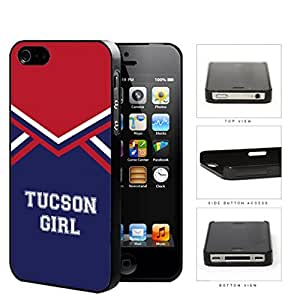 Tucson City Girl School Spirit Cheerleading Uniform iPhone 4 4s Hard Snap on Plastic Cell Phone Cover