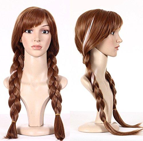Wig for Frozen Snow princess Anna
