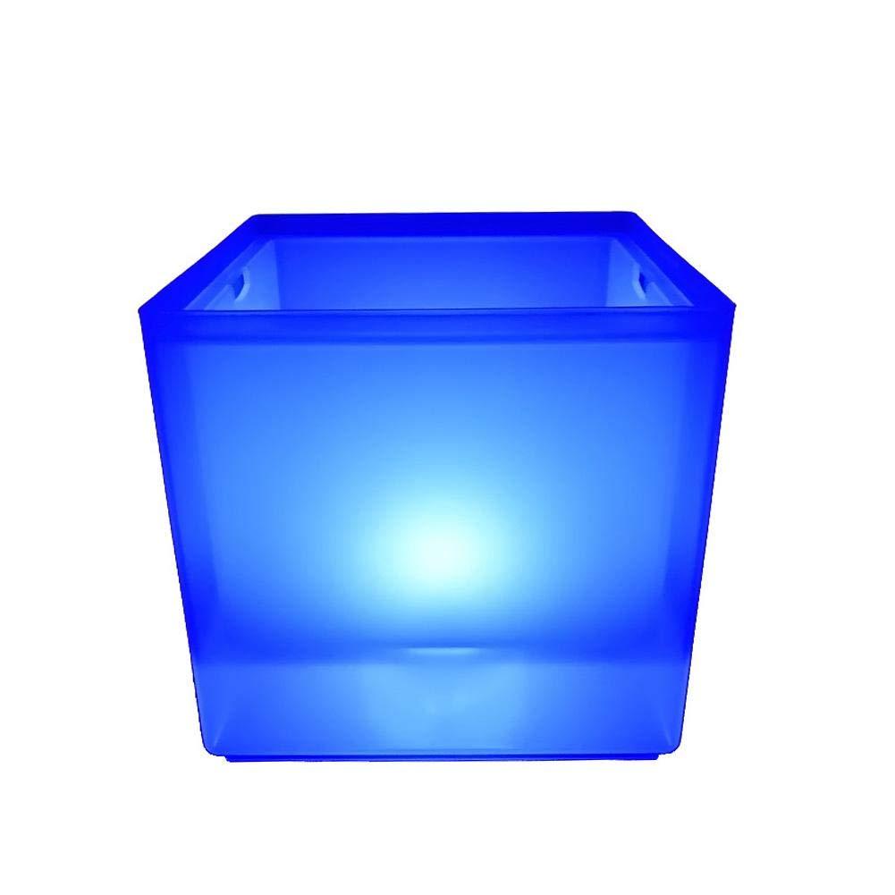 Secchiello per Il Ghiaccio Quadrato Luminoso a LED Bevanda per Il Vino G-wukeer Secchiello per Il Ghiaccio Birra Bicchiere da Vino Adatto per Bar Ristorante KTV Party
