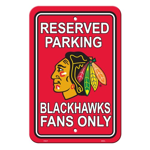 Fremont Die NHL Chicago Blackhawks Reserved Parking Sign, 12