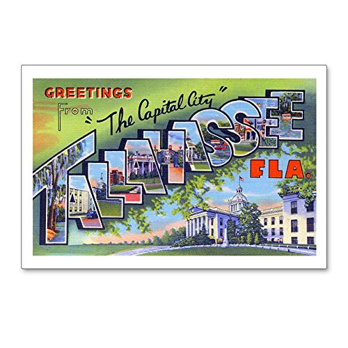 - CafePress Tallahassee Florida Greetings Postcards (Package O Postcards (Package of 8), 6