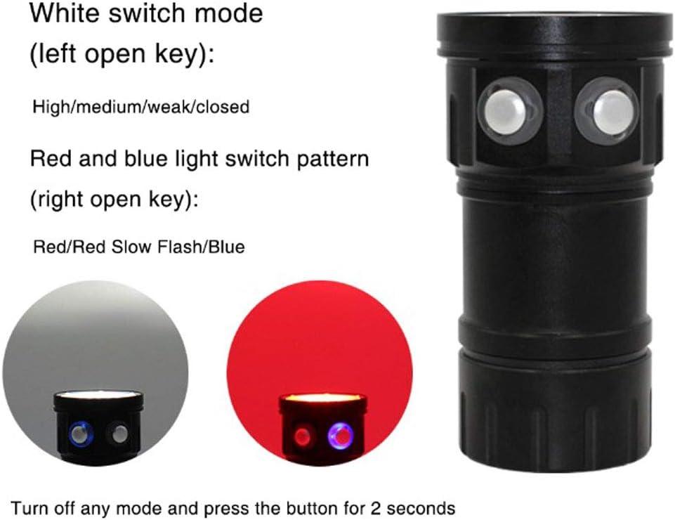 SONADY Diving Lanterna Flashlight 18650 Torch Underwater 80M Photography Light Video Lamp L2 White Red Blue LED Scuba Photo Fill Light