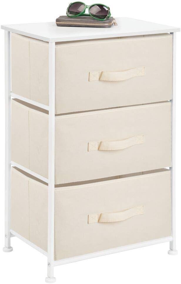 mDesign Vertical white Dresser Storage Tower
