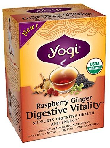 Yogi Tea digestif Bio Vitalité, Framboise Gingembre, 16 comte