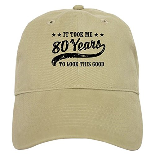 CafePress - Funny 80th Birthday Cap - Baseball Cap with Adjustable Closure, Unique Printed Baseball (Mens Clothes From The 80s)