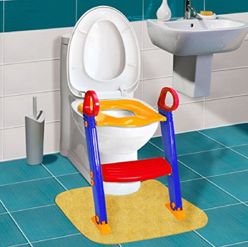 New Toilet Potty Trainer Seat Chair Kids Toddler With Ladder Step Up Training Stool