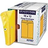 Quality Park Clasp Envelopes, 28lb, #97, 10 x 13 Inches, 250 Count of Kraft (37597)