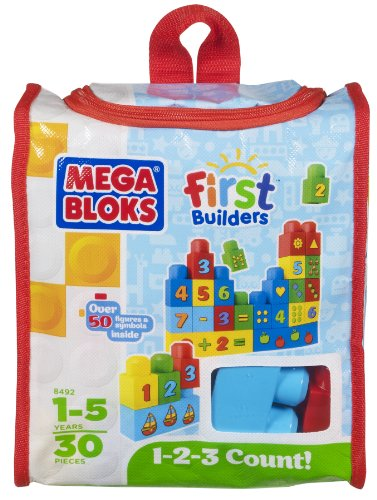 Mega Bloks Build 'n Learn 1-2-3 Count, Baby & Kids Zone