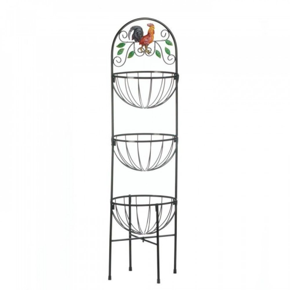 Accent Plus Rooster 3-Tier Kitchen Basket 10017861