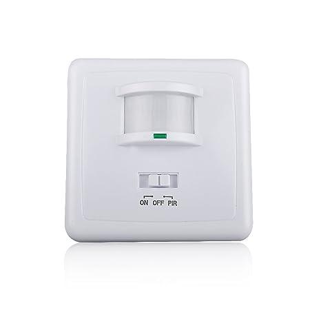 Sensky SK031B 220 – 240 V/AC de pared 9 m LED infrarrojo PIR sensor de movimiento interruptor automático para luz: Amazon.es: Iluminación