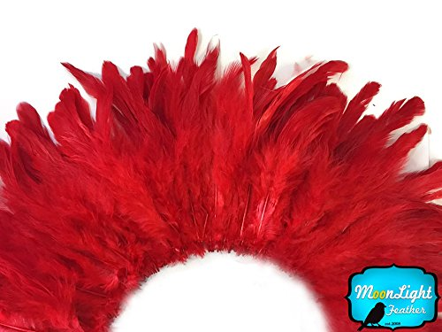 rooster-feathers-red-strung-rooster-schlappen-feathers-4-inch-strip