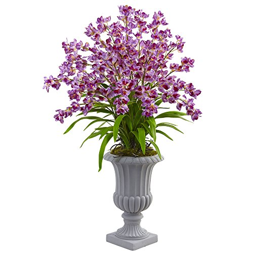 Nearly Natural 1431-PP Giant Blooming Orchid Silk Arrangement with Urn