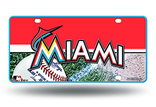 - MLB Miami Marlins Metal Auto Tag