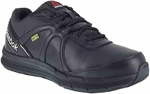 5b19e4d1d4ed Reebok Mens Black Leather Work Shoes Metguard ST SR Oxford 7 M