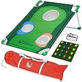 GoSports BattleChip Backyard Golf Cornhole Game | Includes Chipping Target, 16 Foam Balls, Hitting Mat and Carrying Case