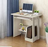 Dream Square - Computer Desk Home Office Furniture Desk Table with Keyboard Drawer & Book Shelf - Personal Workstation Laptop Desk - White