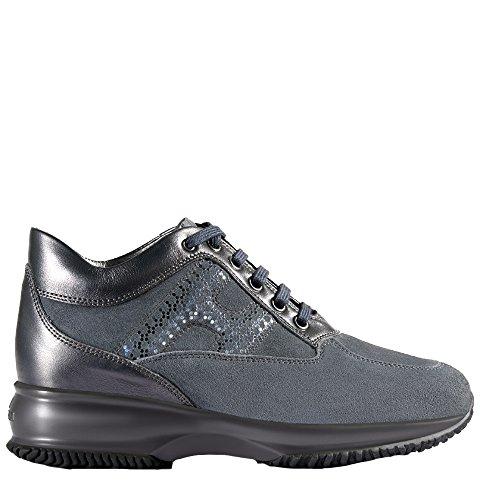 Hogan Sneakers Donna HXW00N0V350Q25B613 Camoscio Blu