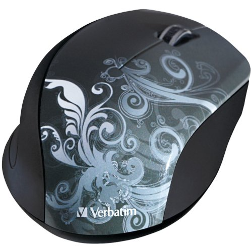 Verbatim Wireless Optical Design Mouse, Graphite 97786