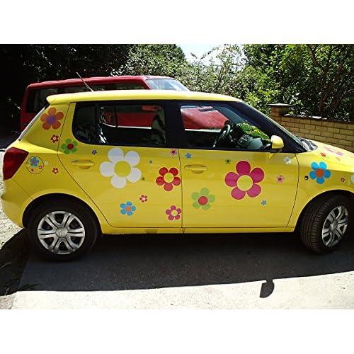 Autocollants De Fleur Hippie Hippie Autocollants De Voiture 031