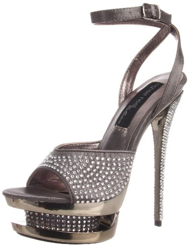71 Pewter Heel Satin The Diamond Women's Platform Highest pwts Sandal ZgqwOpPx