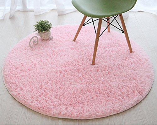 Super Soft Thick Fluffy Kids Rug Nursery Decor Luxury Round Children Area Rug for Living Room Bedroom Playing Room Nursery Carpet 160 by FurFurug