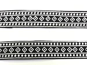 RIBBON BLACK AND SILVER MADE IN PAKISTAN 10 YARD PER ROLL