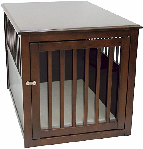 cage furniture. crown pet products crate wood dog furniture end table large size with espresso finish cage