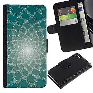 Estuche de Cuero Billetera del tirón Tarjeta de la Bolsa Titular de Suave Caso para Apple Iphone 4 / 4S / CECELL Phone case / / Abstract Floral Lines /