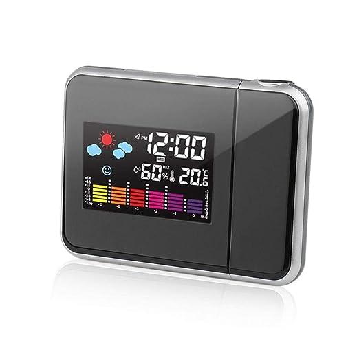 Oulensy El Tiempo LCD Digital Despertador de múltiples Funciones ...