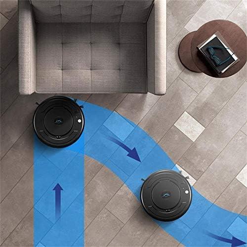 1800PA Robot pleureur Chargeable Robot Propre Balayeuse Robot de Balayage Automatique Intelligent Ultra-Mince Vadrouille de Nettoyage Vauum, Noir