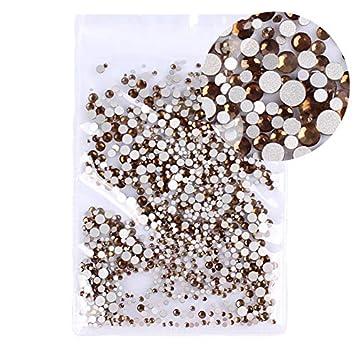 Amazon.com  Mix Sizes 1000PCS Pack Crystal Clear AB Non Hotfix Flatback  Rhinestones Nail Rhinestones For Nails 3D Nail Art Decoration Gems 27 Smoke  yellow ... 2ac4d83f5422