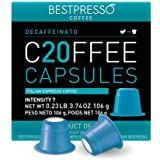 Bestpresso Coffee for Nespresso Original Machine 120 pods Certified Genuine Espresso Decaffeinato Blend(Medium Intensity)Pods