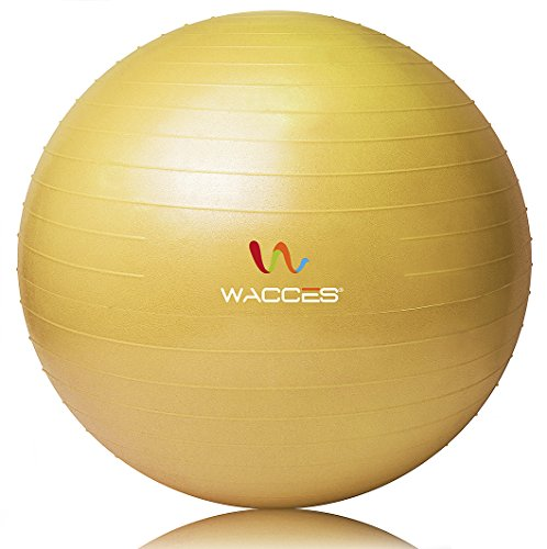 Fitness and Exercise Ball 75cm (Yellow)