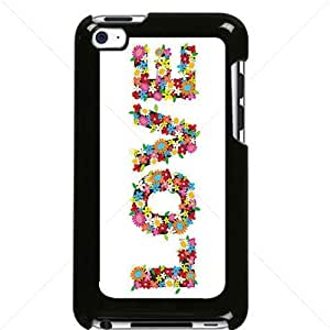 Valentine's Day Gift Sweet Heart Love Apple iPod Touch iTouch 4th Generation Hard Plastic Black or White cases (Black)