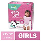 Pampers Easy Ups Pull On Disposable Training Diaper for Girls, Size 4 (2T-3T), Jumbo Pack, 25 Count: more info