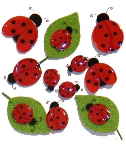 Jolees Boutique Dimensional Stickers - Cute Ladybugs 50-20277