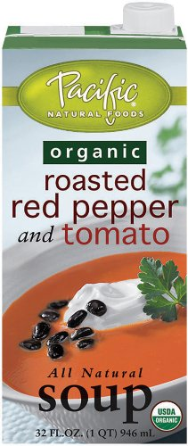 Pacific Foods Organic Soup, Creamy Roasted Red Pepper & Tomato, (Organic Roasted Peppers)