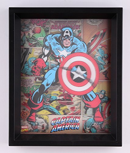 """Captain America"" Marvel 9.25″ x 11.25″ 3D Custom Framed Photo Display"