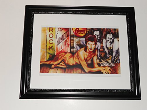 """Large Framed David Bowie Diamond Dogs Full Dog Uncensored Cover 24"""" by 20"""""""
