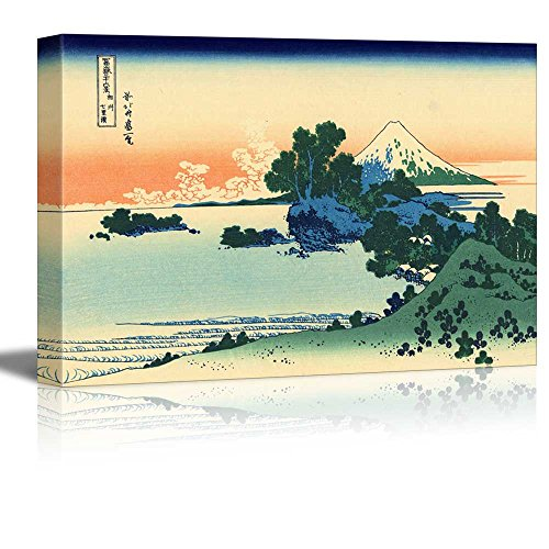 Shichiri Beach in Sagami Province by Katsushika Hokusai Print Famous Painting Reproduction