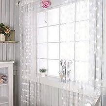 Ainest Drop Beaded String Door Window Curtain Divider Tassel Fly Screen Room Blind white