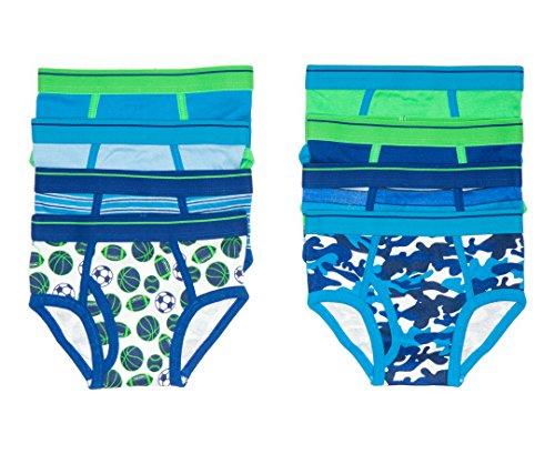 Trimfit Boys 100% Dinosaur Sports Camo Briefs 8-Pack Blue Multi Color S (4-6) by Trimfit (Image #3)