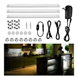LED Under Cabinet Lighting, Touch Control, Guaiboshi Dimmable Under Counter Kitchen Light, LED Counter Light Strips for Kitchen Shelf Locker Show Case, 3pcs Closet Light Bars Kit, 12W 6500K Cool White