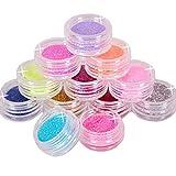 12 Mix Color Random Nail Art Acrylic Glitter Dust Powder by JSDOIN