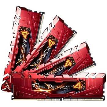 G.SKILL Ripjaws 4 Series 32GB (4 x 8GB) 288-Pin DDR4 SDRAM DDR4 2400 (PC4 19200) Desktop Memory Model F4-2400C15Q-32GRR