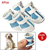 Como Puppy Dog Zippered Meshy Boots Blue White Shoes Size 5, My Pet Supplies