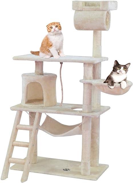 Centro de actividades para gatos con poste rascador y escalador en ...